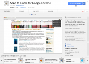 Send To Kindle Extension in Google Chrome Store