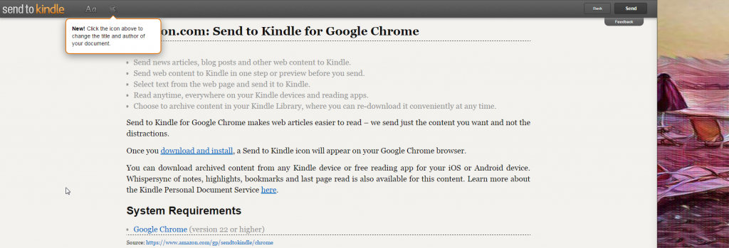 Send To Kindle for Google Chrome Program Manager