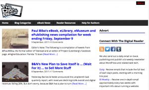 """The Digital Reader"" Blog Screenshot"