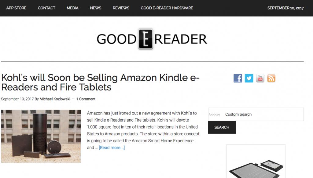 Good eReader Blog Screenshot