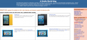 A Kindle World Blog Screenshot