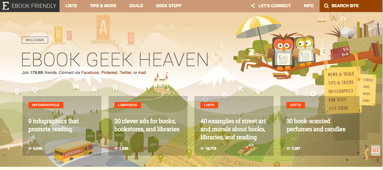 eBook Friendly Blog Screenshot