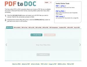 PDF2DOC screenshot