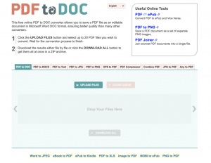 PDF2DOC screenshot