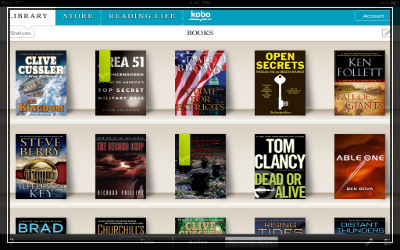 Kobe eReader app for eBooks screenshot