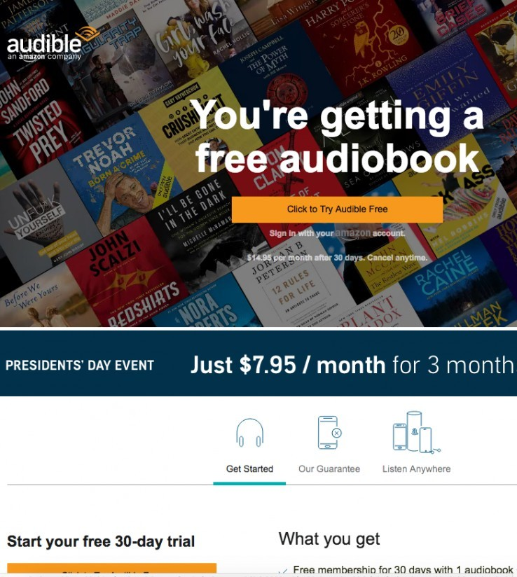 Audible Homepage