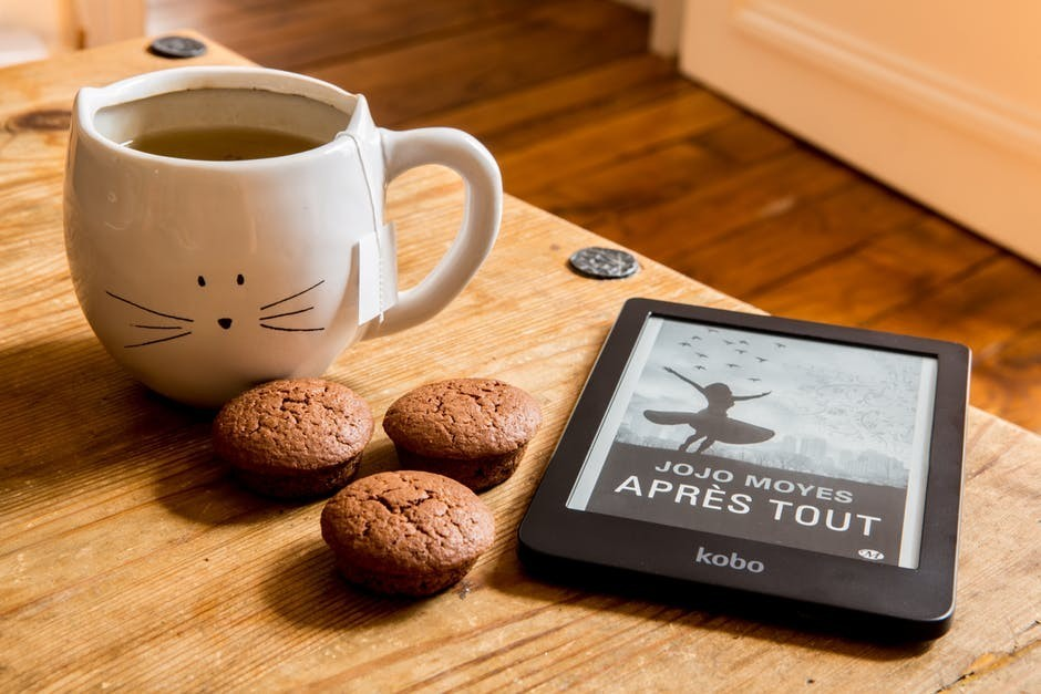 Coffee and eBook reader
