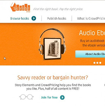 Scribl Audiobooks website